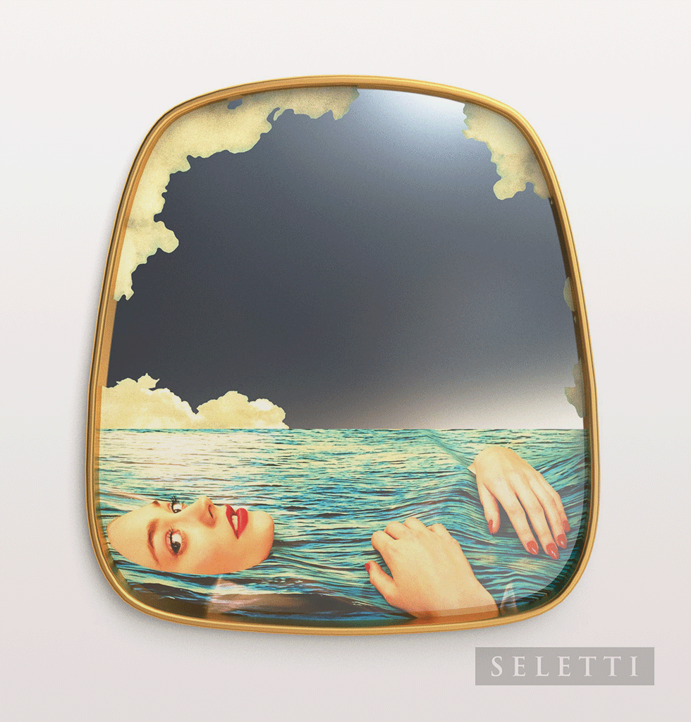 FLOATING SEA GIRL MIRROR BY TOILETPAPER