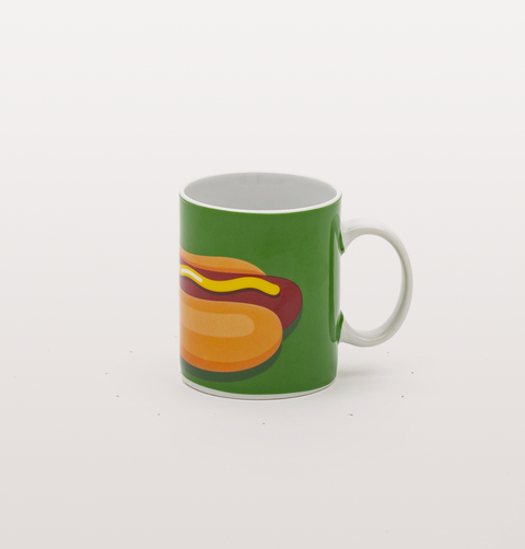 GREEN HOTDOG MUG BY STUDIO BLOW