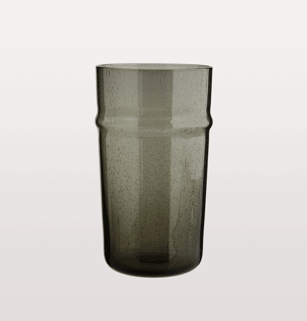 TALL BELDI GREY MOROCCAN DRINKING GLASS