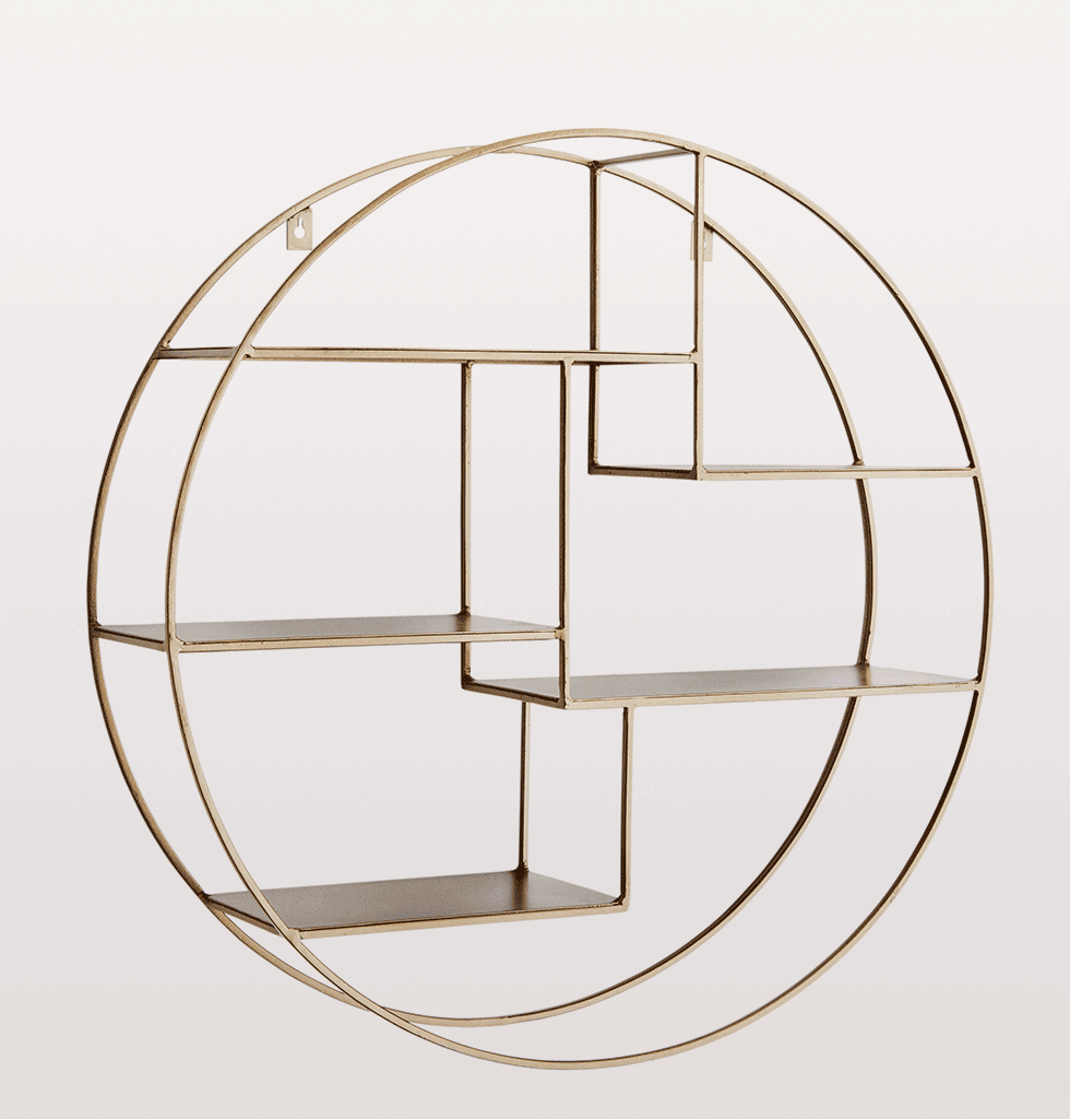 round brass shelf madam stoltz