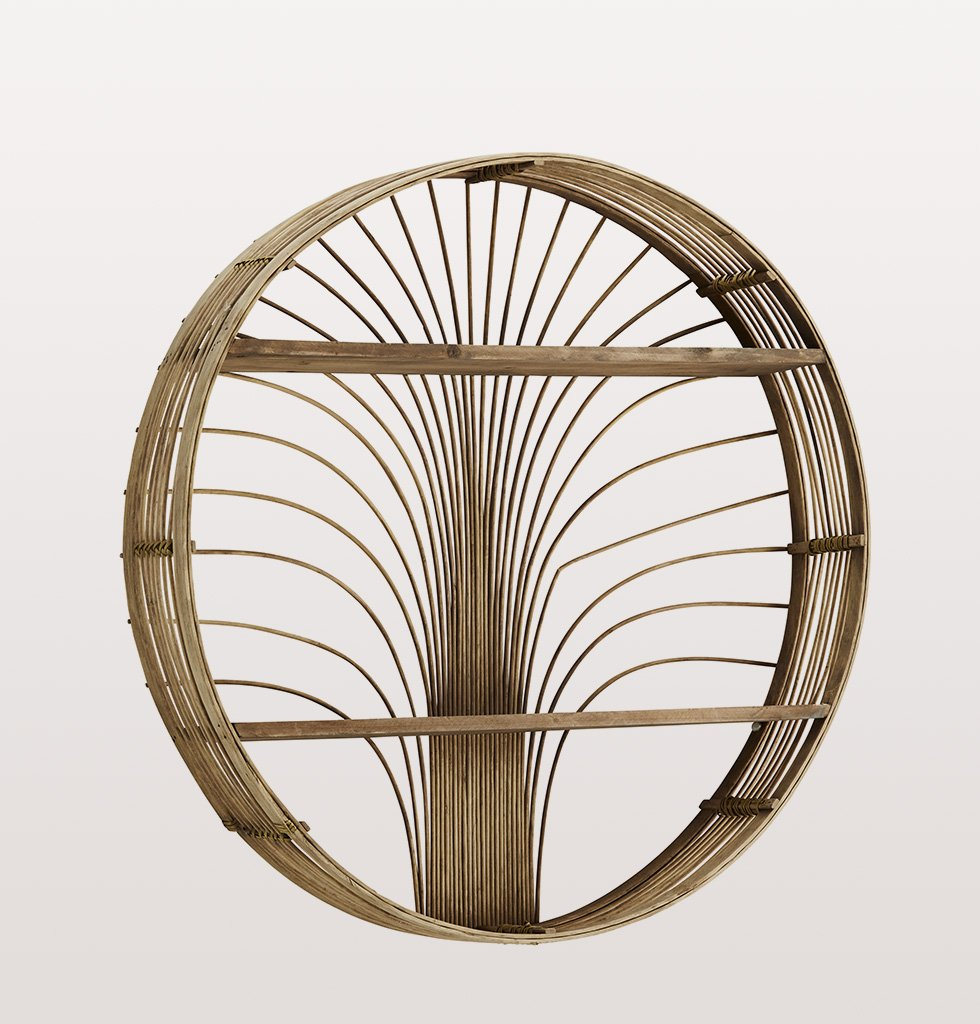 SUNRISE ROUND BAMBOO SHELF