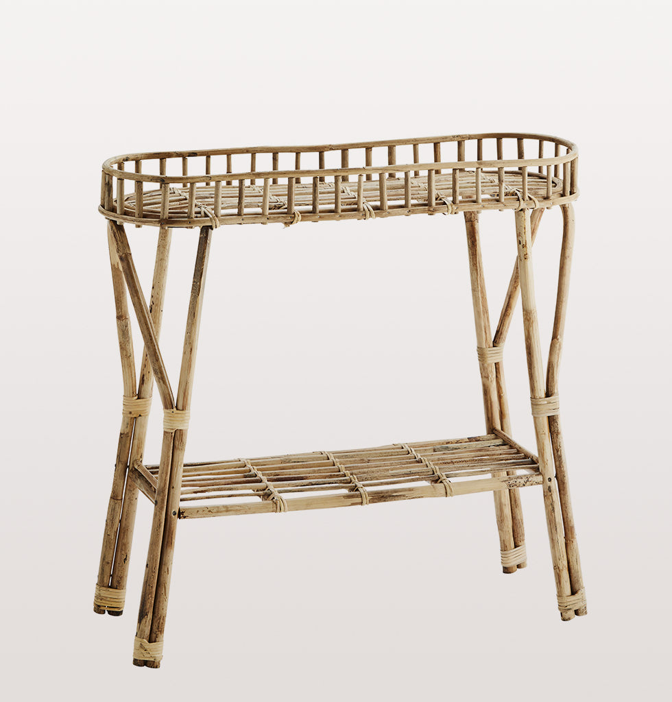 STANDING LONG BAMBOO SHELF madam stoltz hallway table