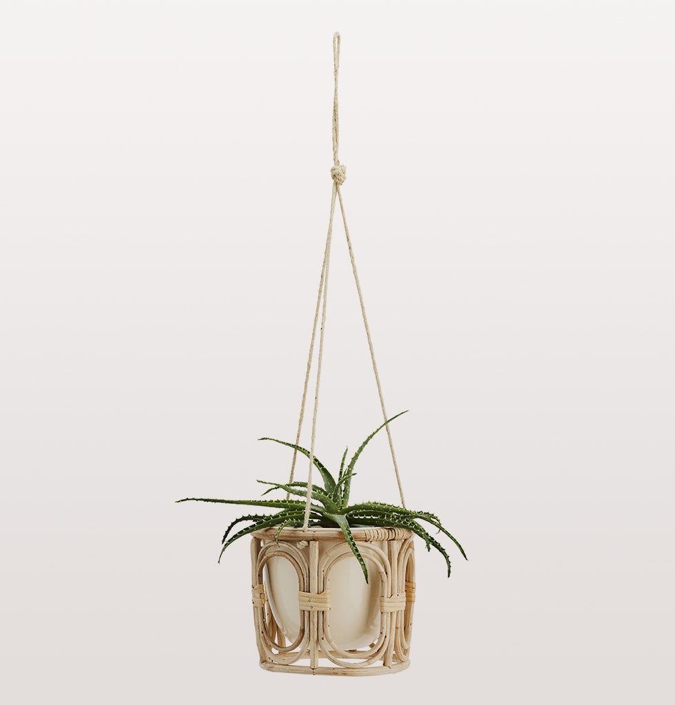 BAMBOO HANGING PLANT FLOWER POT