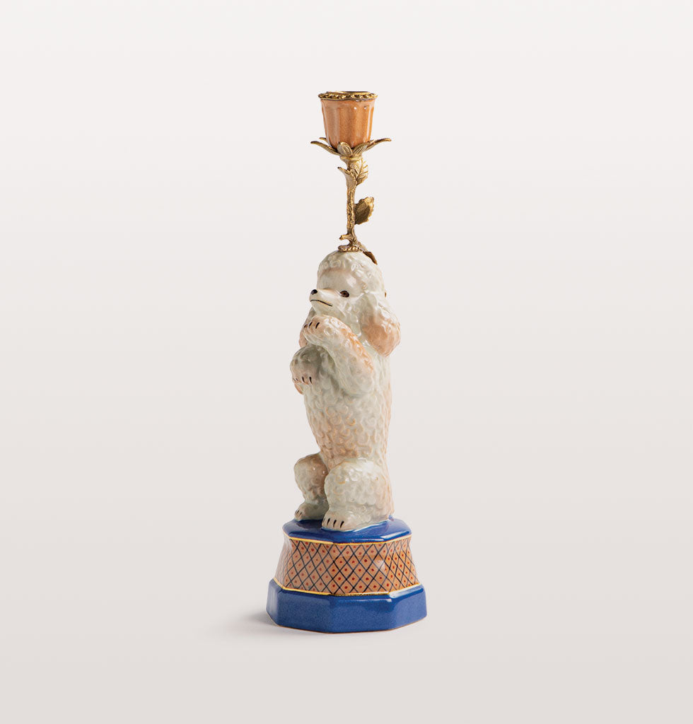 POODLE CANDLE HOLDER