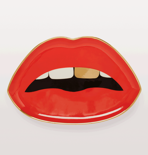 Jonathan Adler Red Lips Trinket Tray Full Dose Collection