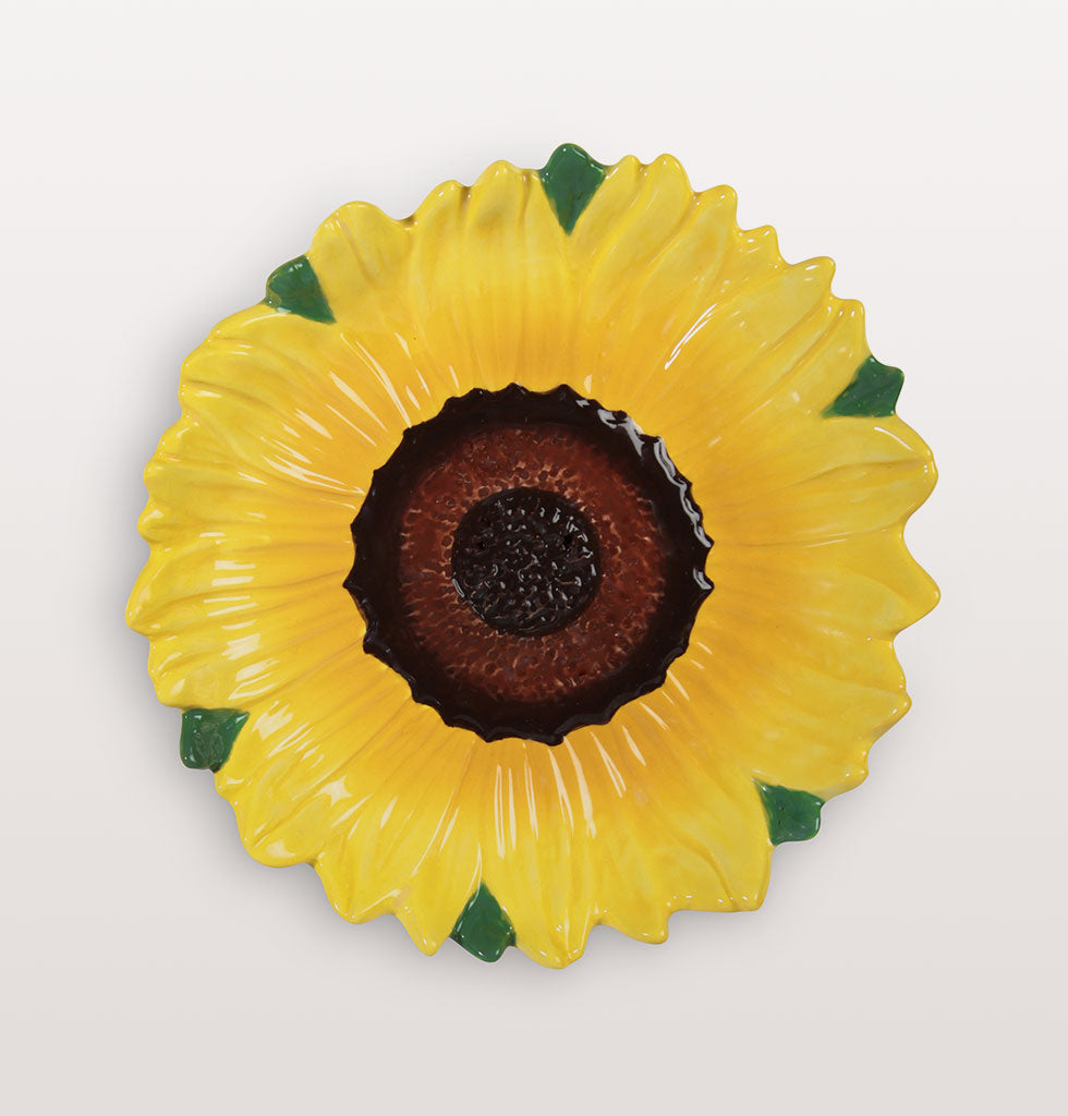 "W.A.GREEN | &K | The flower of summer has to be the bright and bold sunflower. This floral serving dish will bring a hot Mediterranean feel to your summer dining table.   W.A.Green says, ""Your guests won't want to leave your entertaining table with dishes like these to linger over"".   Mix and match with the other floral dishes in this collection for the hottest summer table setting. £16 wagreen.co.uk"