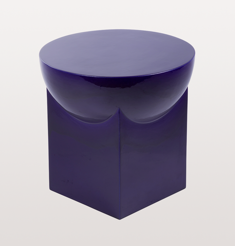 MILA BLUE SMALL CERAMIC SIDE TABLE by PULPO