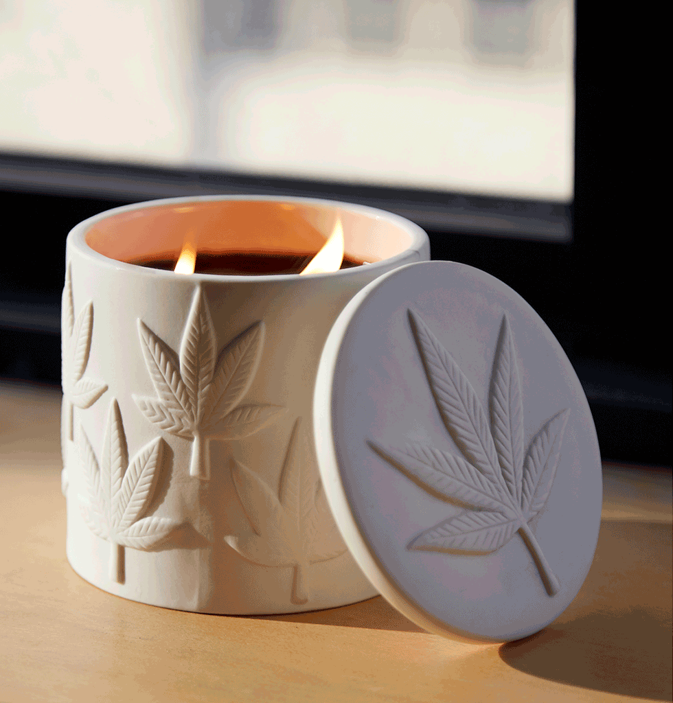 Jonathan Adler Hashish Scented Candle with lid