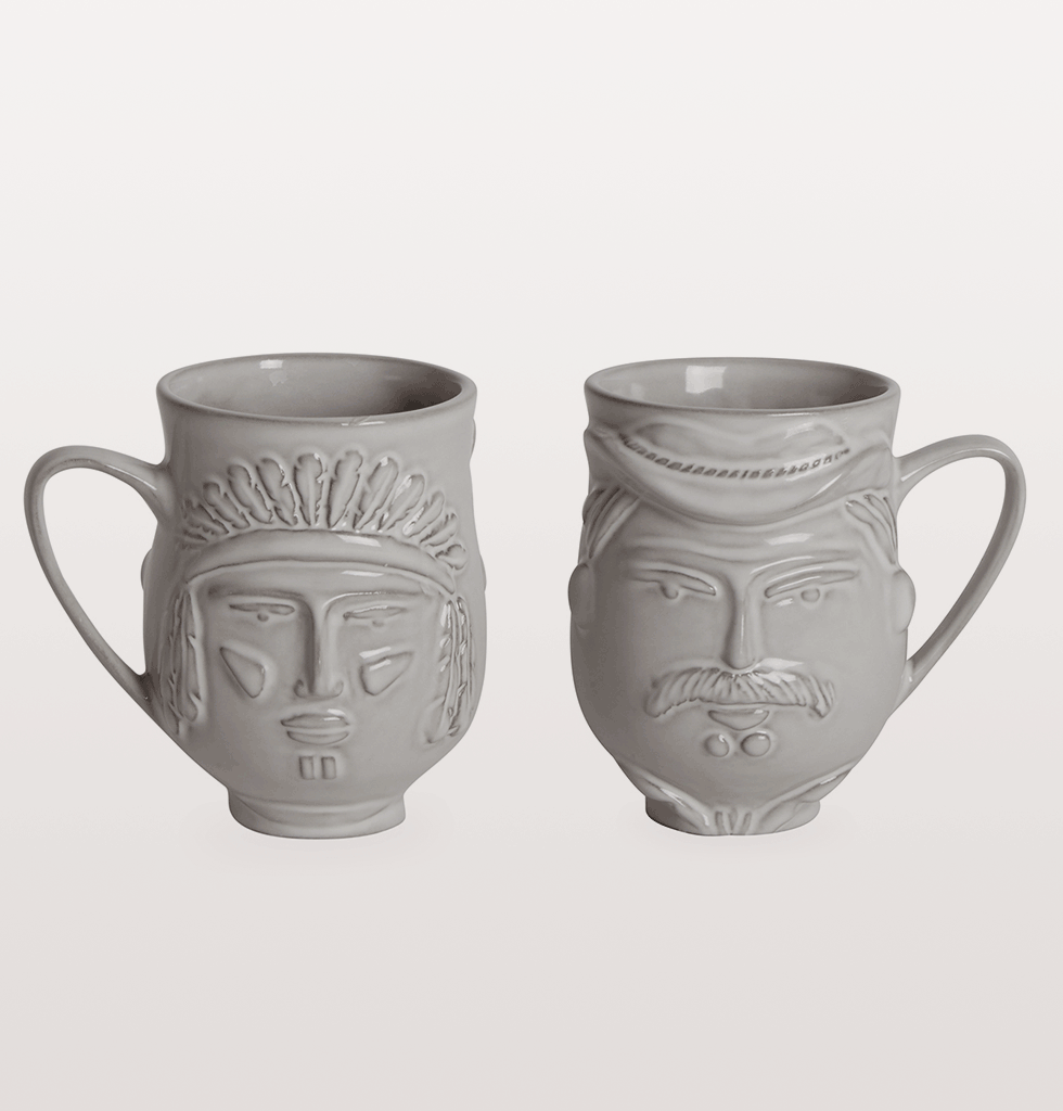 macho macho Jonathan Adler Utopia YMCA Village people mug cowboy and native american indian