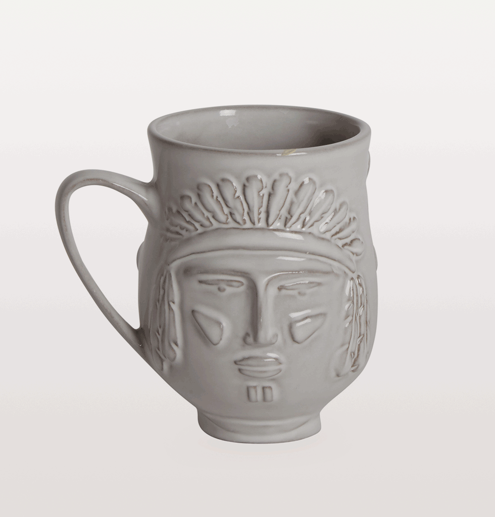 Jonathan Adler Utopia YMCA Village people mug native american indian side