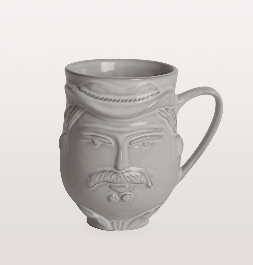 UTOPIA YMCA COWBOY & NATIVE AMERICAN MUG