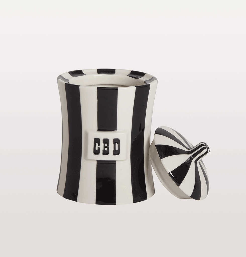 Jonathan Adler black and white vice jar cbd