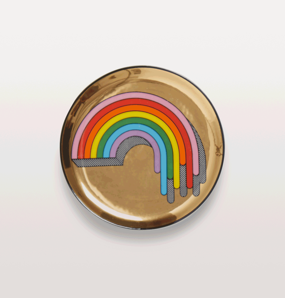 Jonathan Adler Rainbow Pop Gold Coasters
