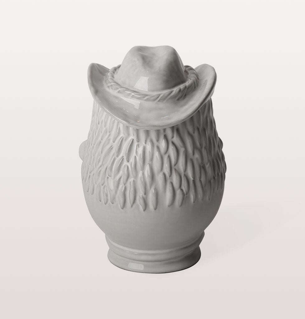 Macho Cowboy YMCA Village People inspired white ceramic kitchen jar canister. Jonathan Adler Utopia collection