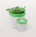 GREEN TERRAZZO MINI PLANT POTS by CONCRETE CANDY X W.A.GREEN