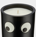 Anya smells by Anya Hindmarch, Coffee and woodsmoke candle. Goggle eyes logo, sticker, patch collectible fashionable gift.  Notes of café absolue, galbanum, cardamom, vetiver, Anyatchouli, Virginia cedar wood, tonka bean, frankincense and amber.