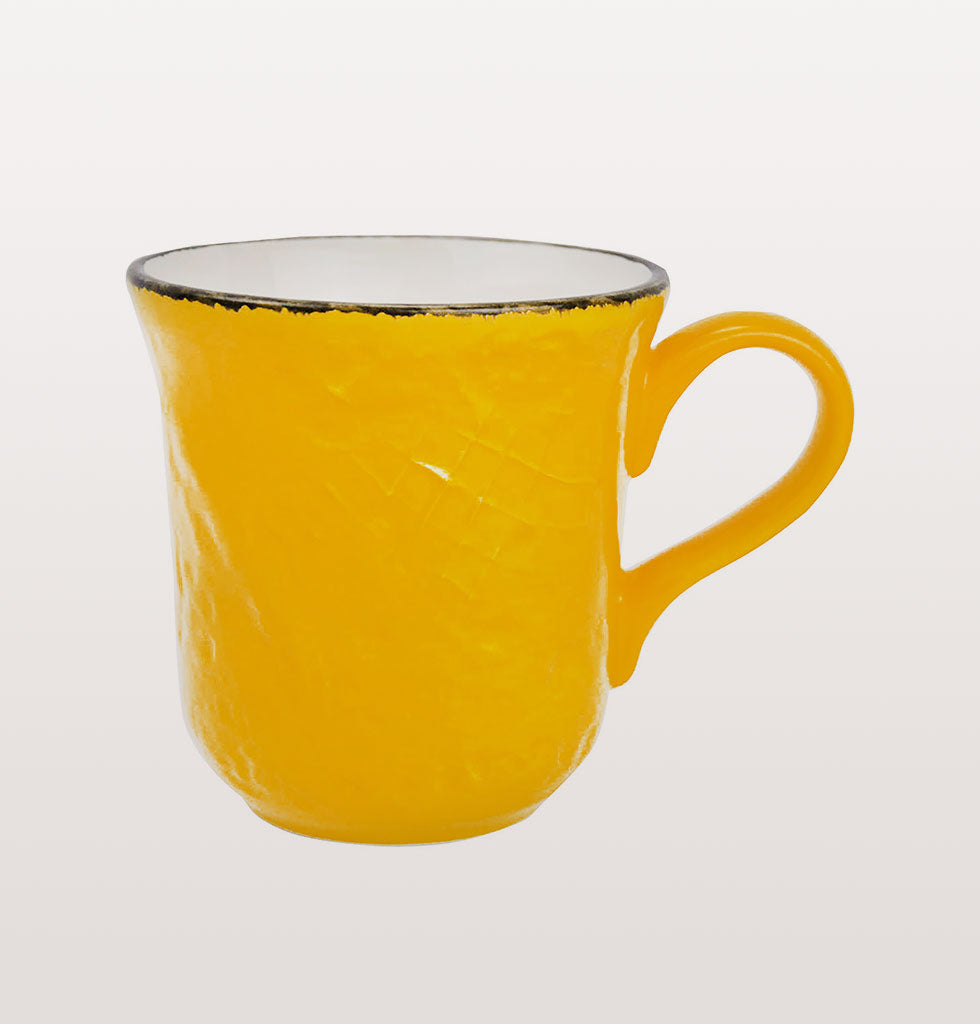 W.A.GREEN | YELLOW BRIGHT PRETA MAJOLICA TABLEWARE SET | PERFECT MUG. £12 wagreen.co.uk
