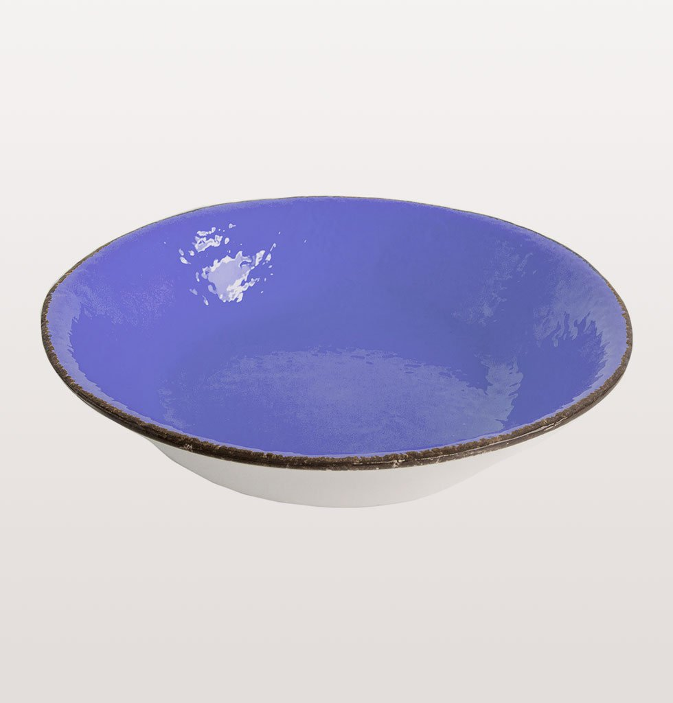 W.A.GREEN | BLUE BRIGHT MAJOLICA TABLEWARE SET | ROUND SERVING PLATE