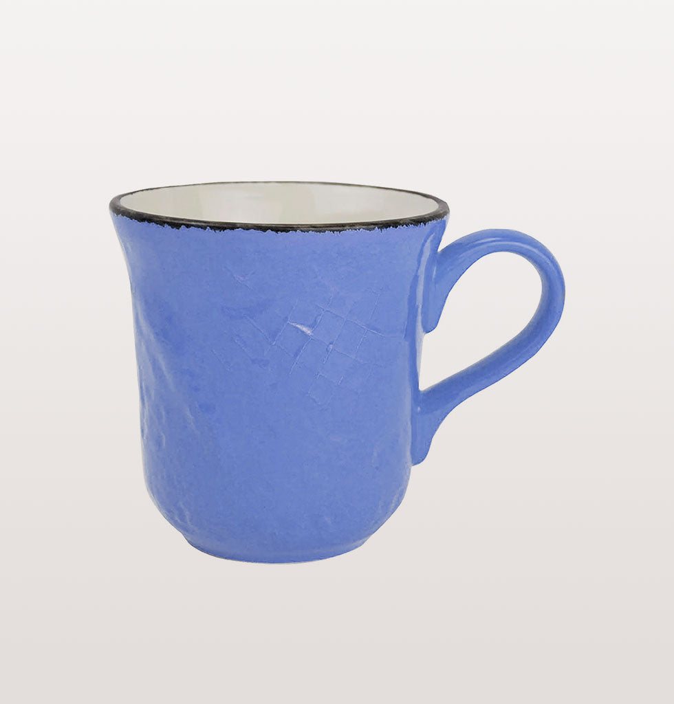 W.A.GREEN | BLUE BRIGHT PRETA MAJOLICA TABLEWARE SET | PERFECT MUG. £12 wagreen.co.uk