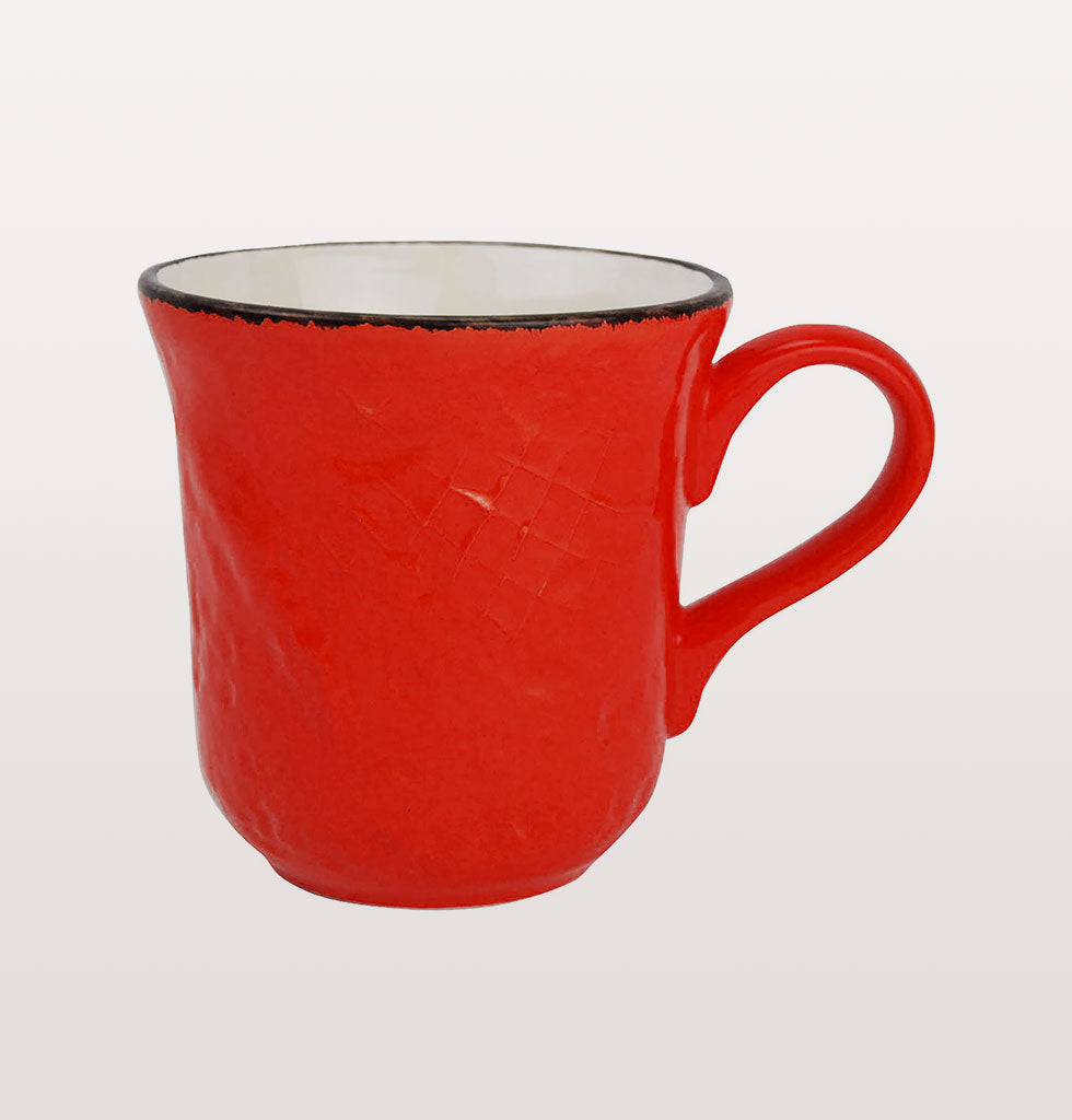 W.A.GREEN | RED BRIGHT PRETA MAJOLICA TABLEWARE SET | PERFECT MUG. £12 wagreen.co.uk