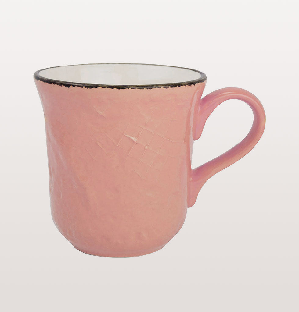 W.A.GREEN | PINK BRIGHT PRETA MAJOLICA TABLEWARE SET | PERFECT MUG. £12 wagreen.co.uk