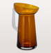 Pulpo orange amber glass jug with opaque glass handle