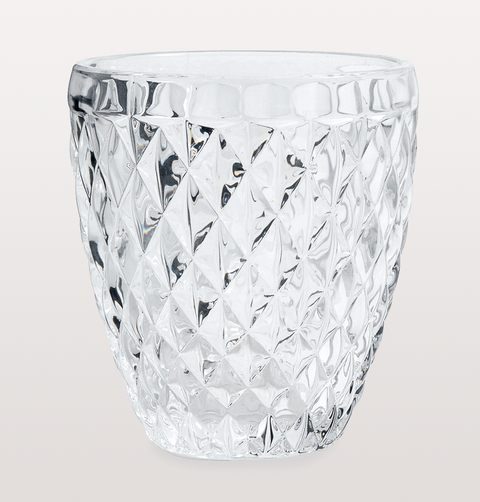 CLEAR DIAMOND WATER GLASS