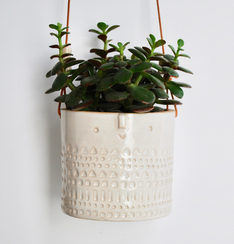 HANGING WHITE PLANTER