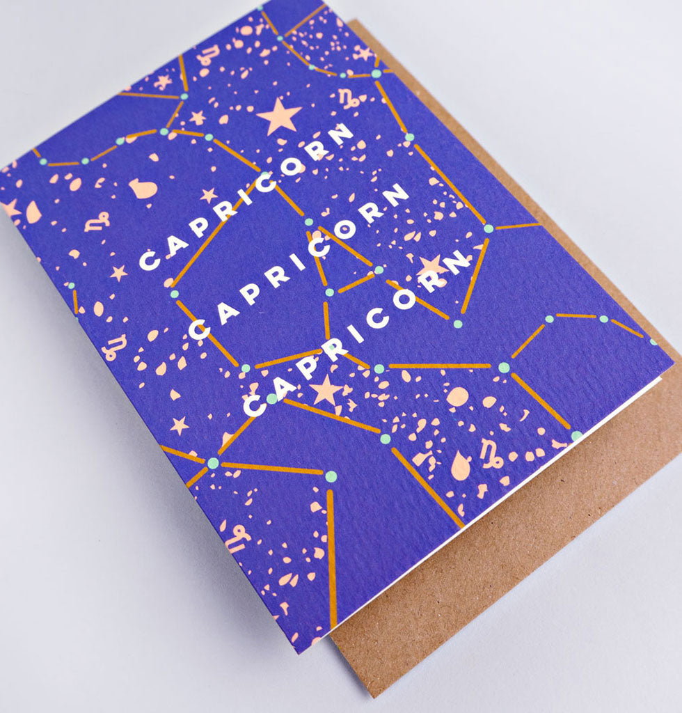 The Completist star sign cards. Capricorn. Single card £3.50. wagreen.co.uk