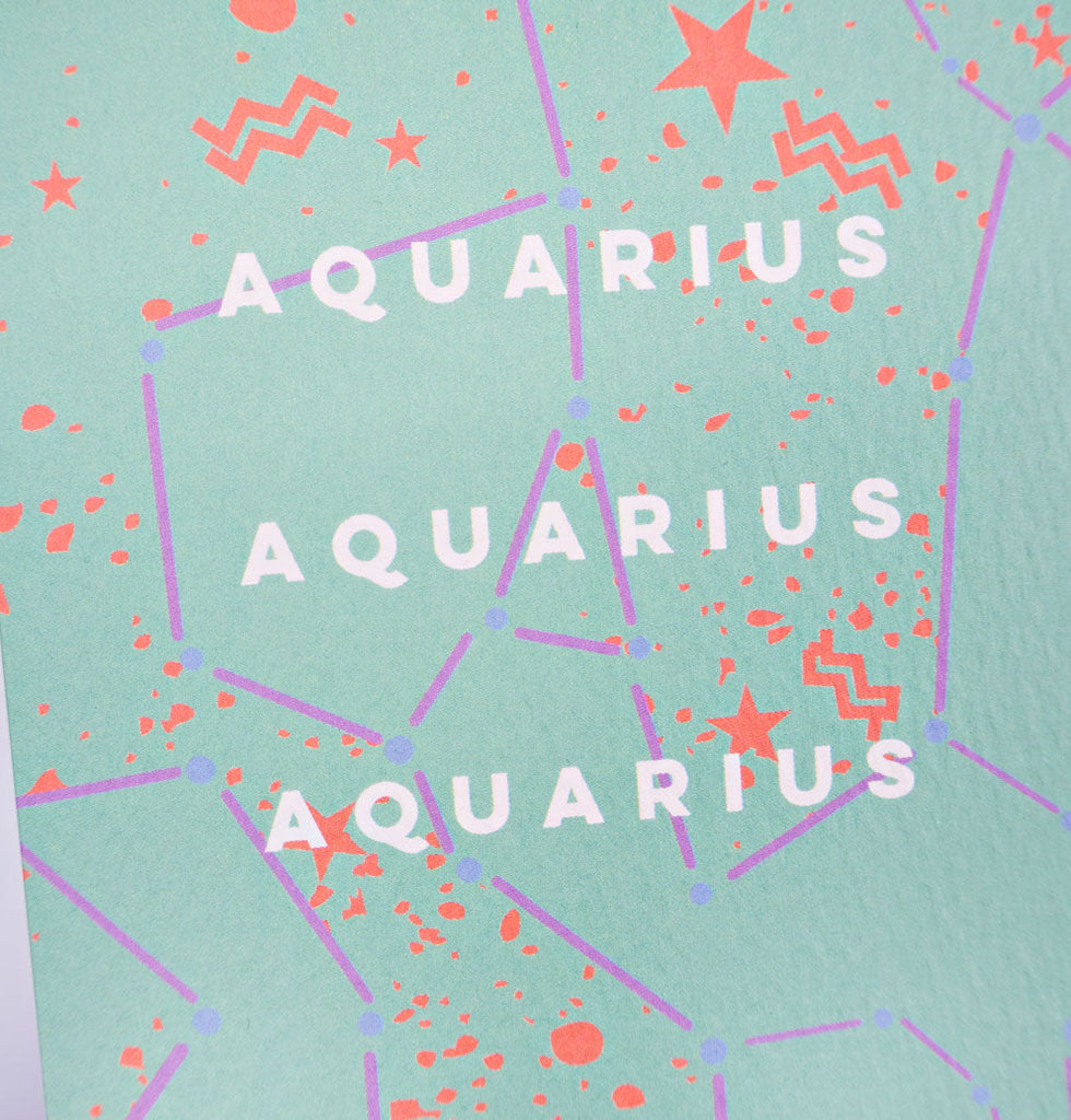 The Completist star sign cards. Aquarius. Single card £3.50. wagreen.co.uk