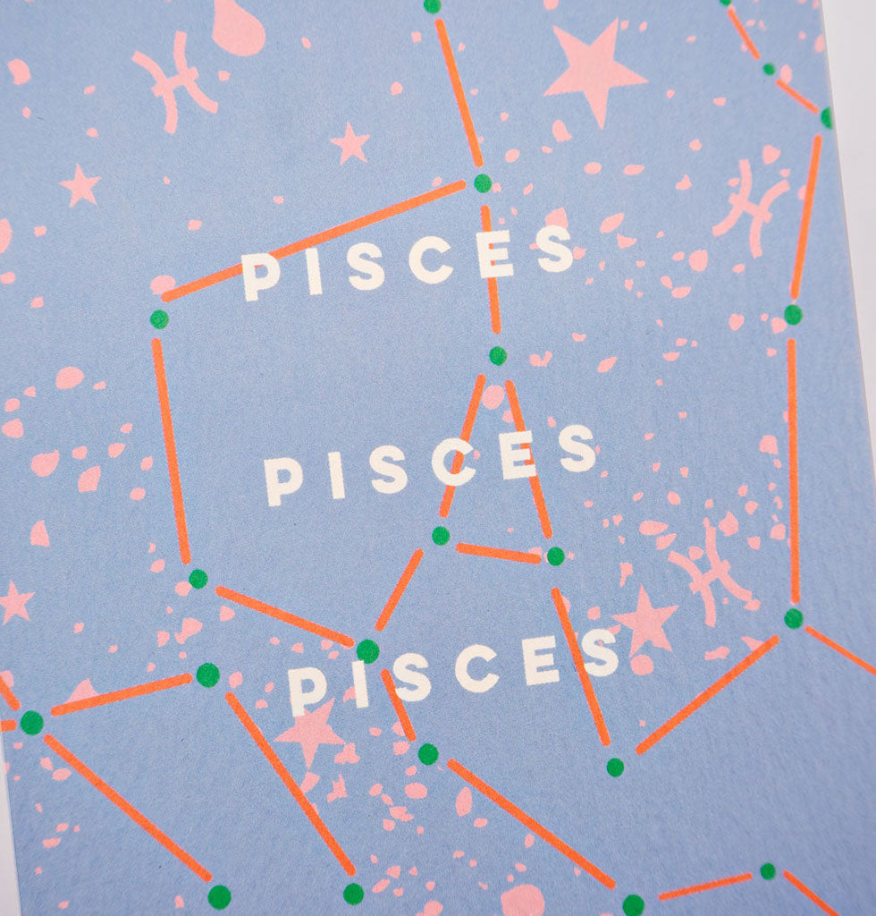 The Completist star sign cards. Pisces. Single card £3.50. wagreen.co.uk