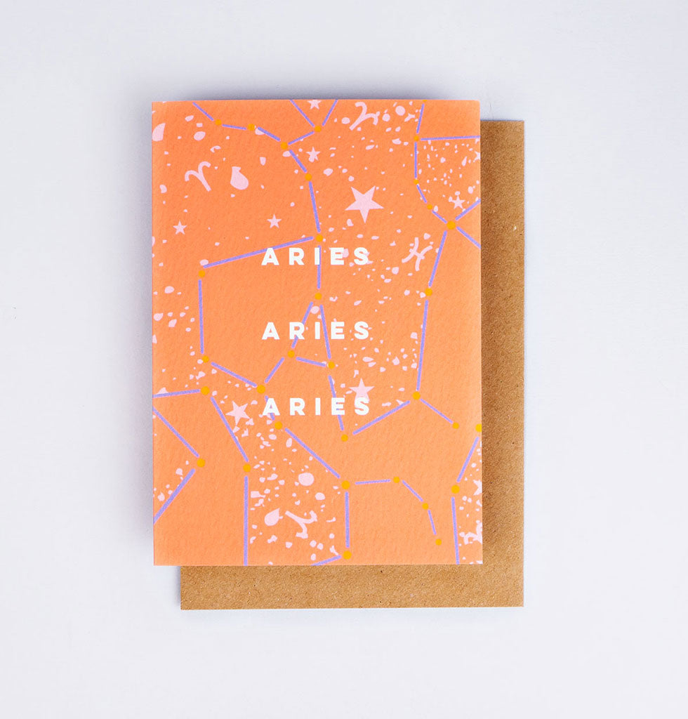 The Completist star sign cards. Aries. Single card £3.50. wagreen.co.uk
