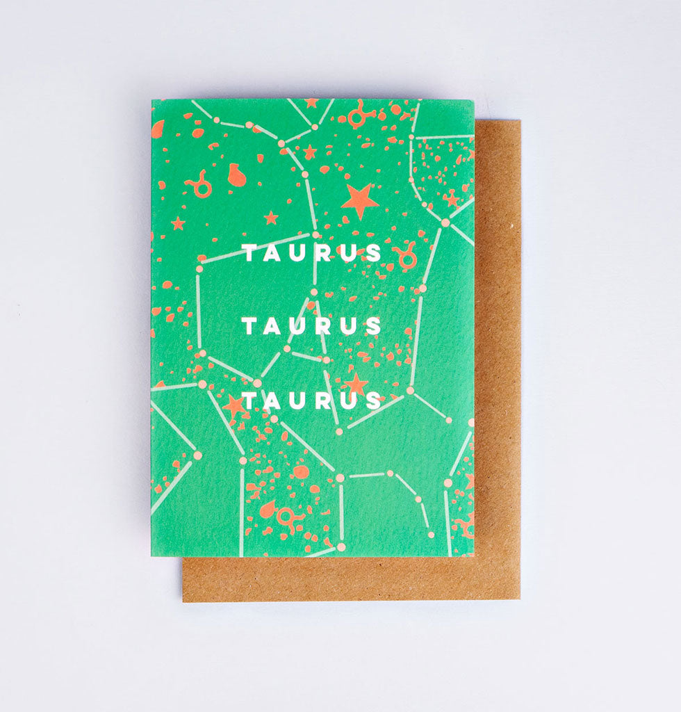 The Completist star sign cards. Taurus. Single card £3.50. wagreen.co.uk