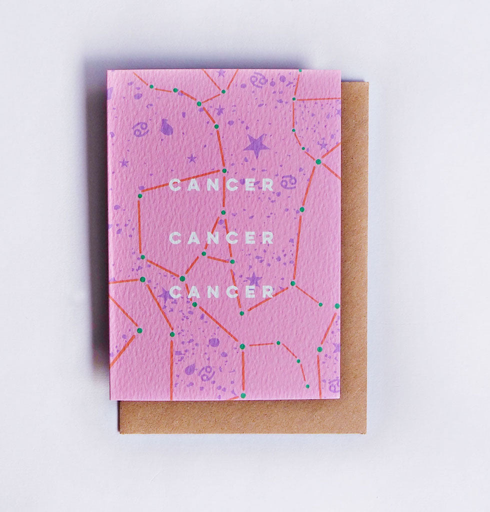 The Completist star sign cards. Cancer. Single card £3.50. wagreen.co.uk