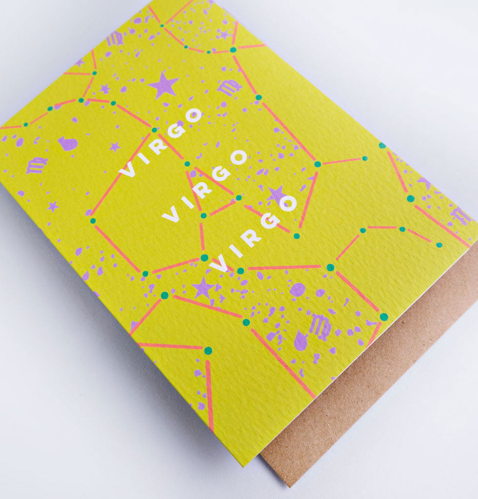 The Completist star sign cards. Virgo. Single card £3.50. wagreen.co.uk