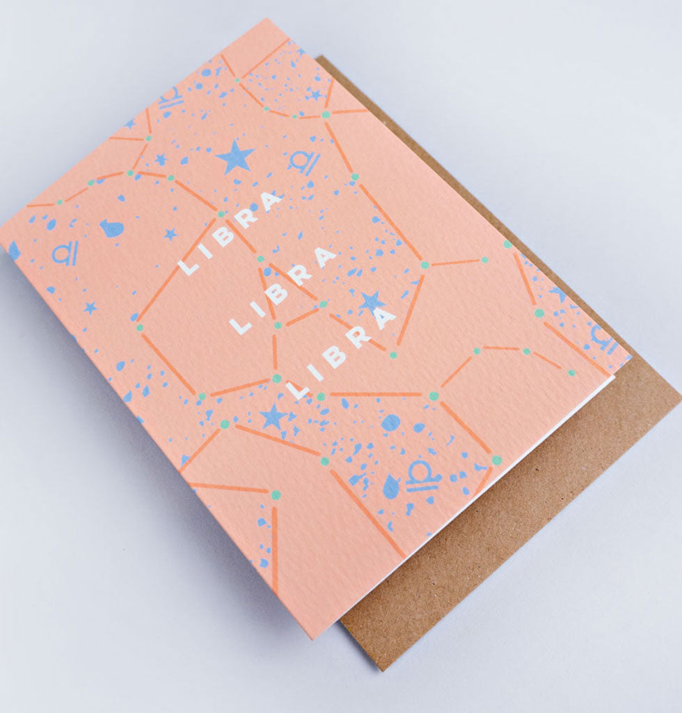 The Completist star sign cards. Libra. Single card £3.50. wagreen.co.uk
