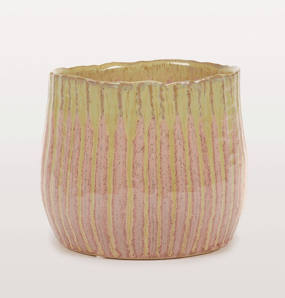 PINK AND GREEN PLANT POT by Serax