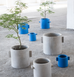 Indoor decorative plant pot blue by Serax