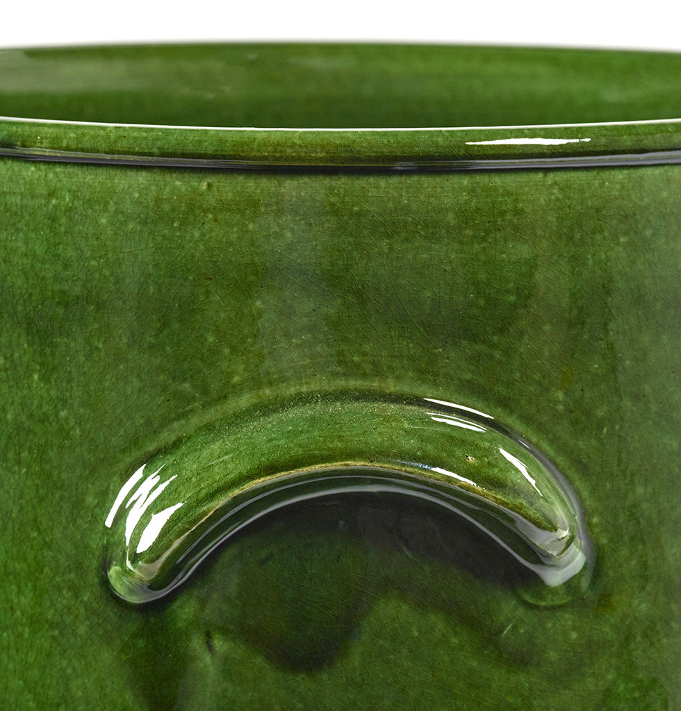 Bright green plant pot for indoor and outdoor garden patio or terrace by Serax