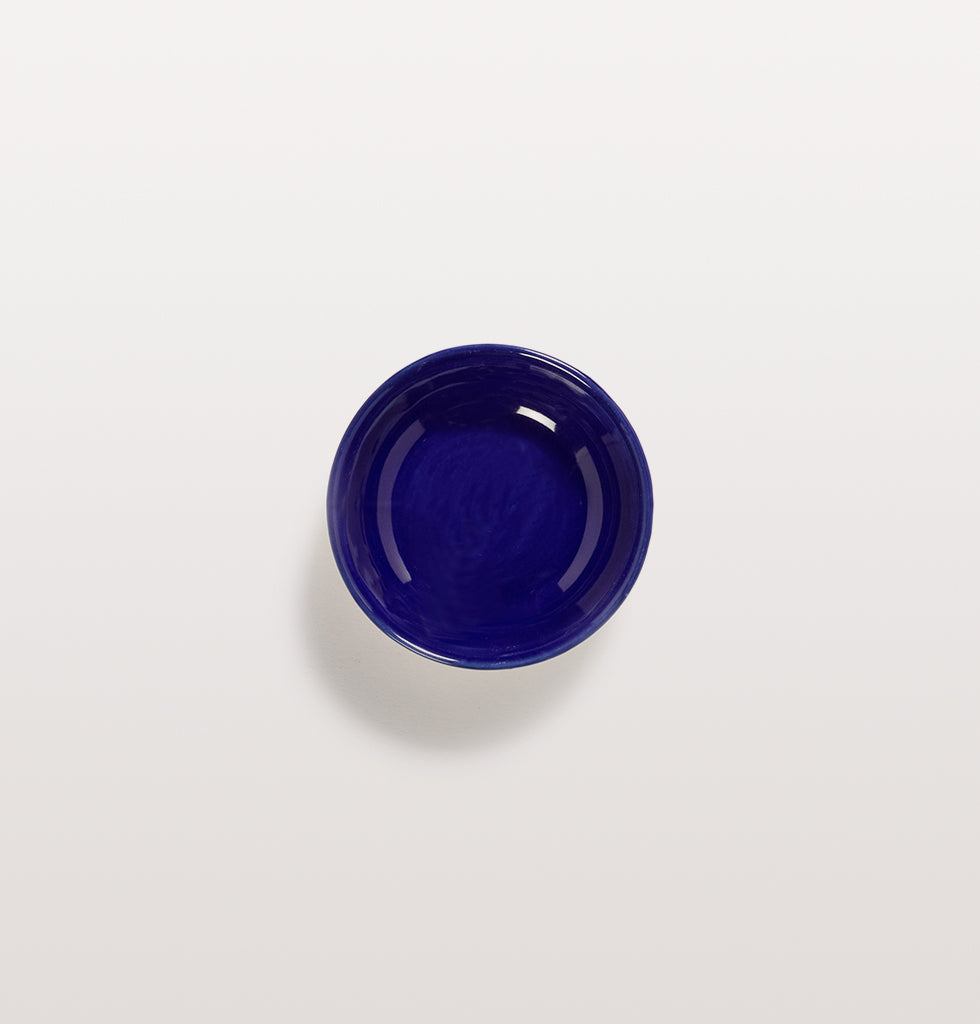 Ottolenghi x Serax. Lapis Lazuli extra small dish top view. £7 wagreen.co.uk
