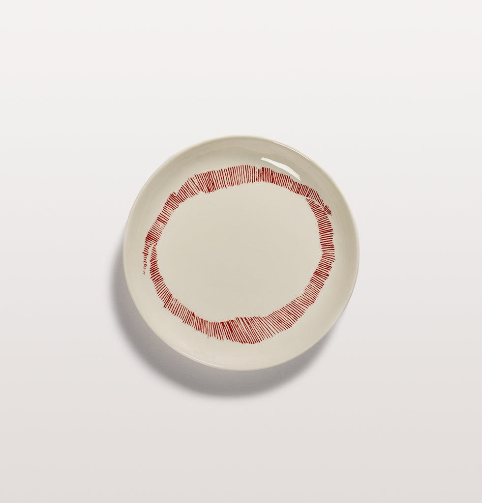 Ottolenghi x Serax. White and Swirl Stripes Red extra small plate. £16 wagreen.co.uk