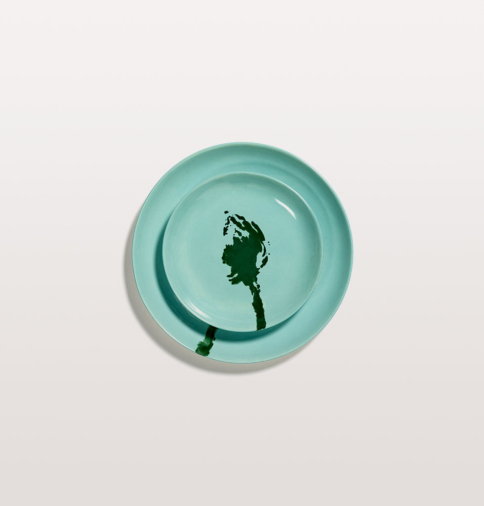 Ottolenghi x Serax. Azure and Artichoke Green extra small and medium plate. wagreen.co.uk