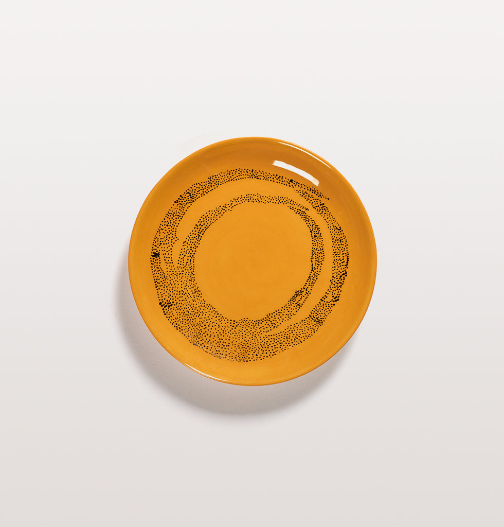 Ottolenghi x Serax. Sunny Yellow and Swirl Dots Black extra small plate. £16 wagreen.co.uk