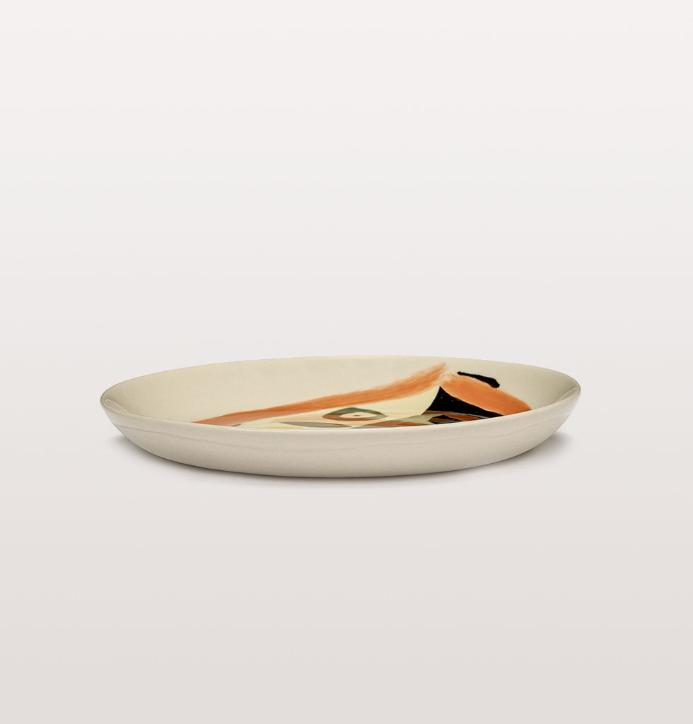 Ottolenghi x Serax. Face 1 extra small plate side view. £16 wagreen.co.uk