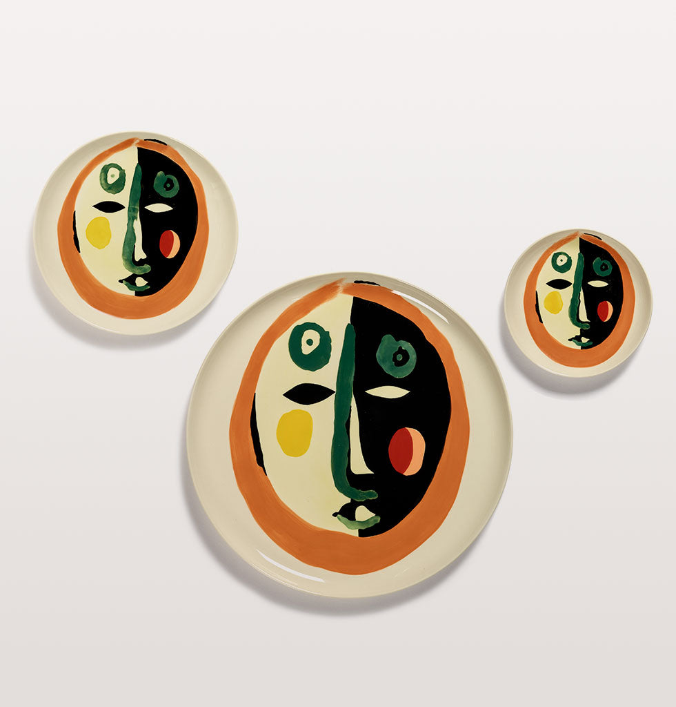 Ottolenghi x Serax. Face 1 extra small, medium and serving plate. wagreen.co.uk