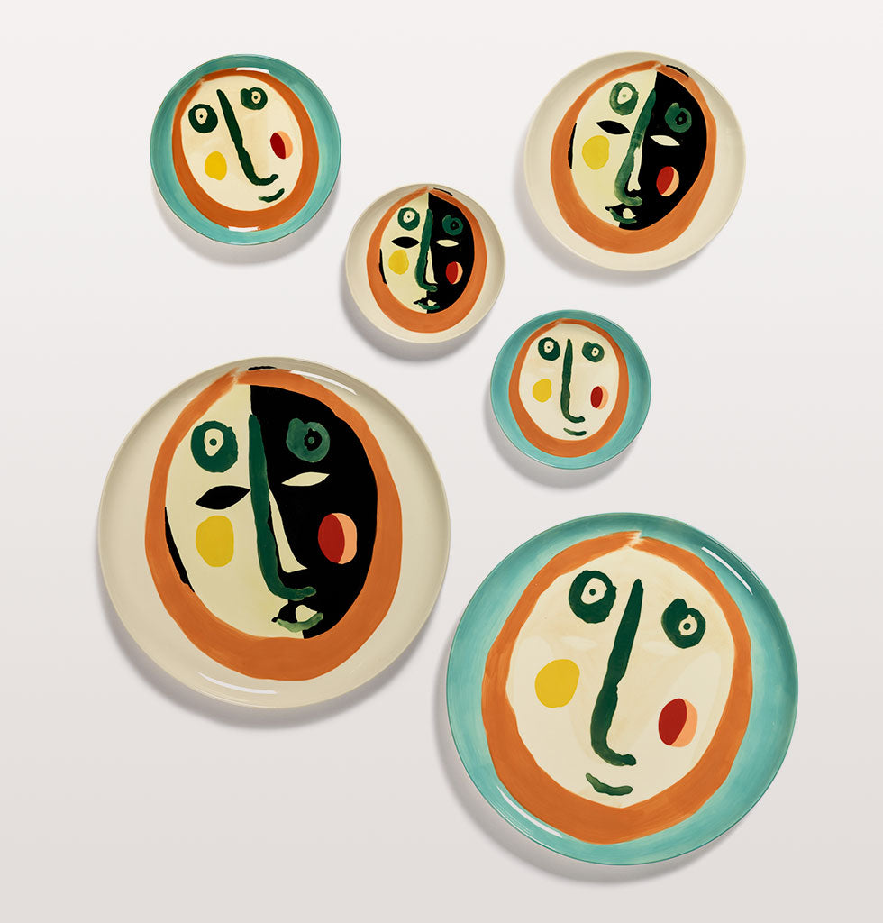 Ottolenghi x Serax. Face 1 extra small, medium and serving plate and Face 2 extra small, small and serving plate. wagreen.co.uk