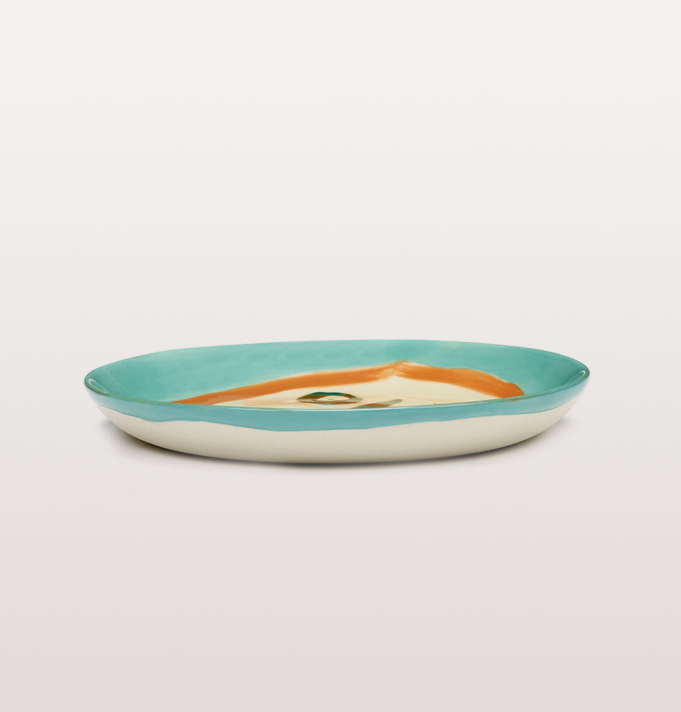 Ottolenghi x Serax. Face 2 extra small plate side view. £16 wagreen.co.uk