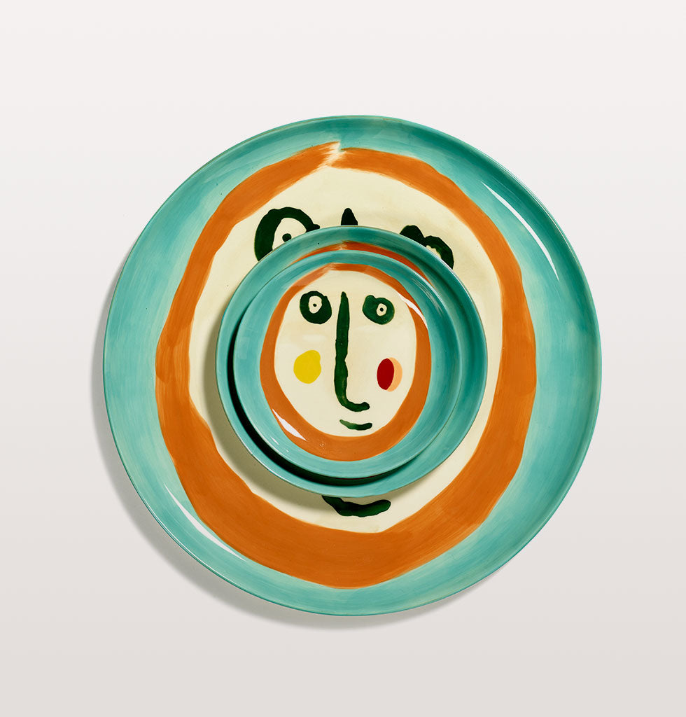 Ottolenghi x Serax. Face 2 extra small, small and serving plate. wagreen.co.uk
