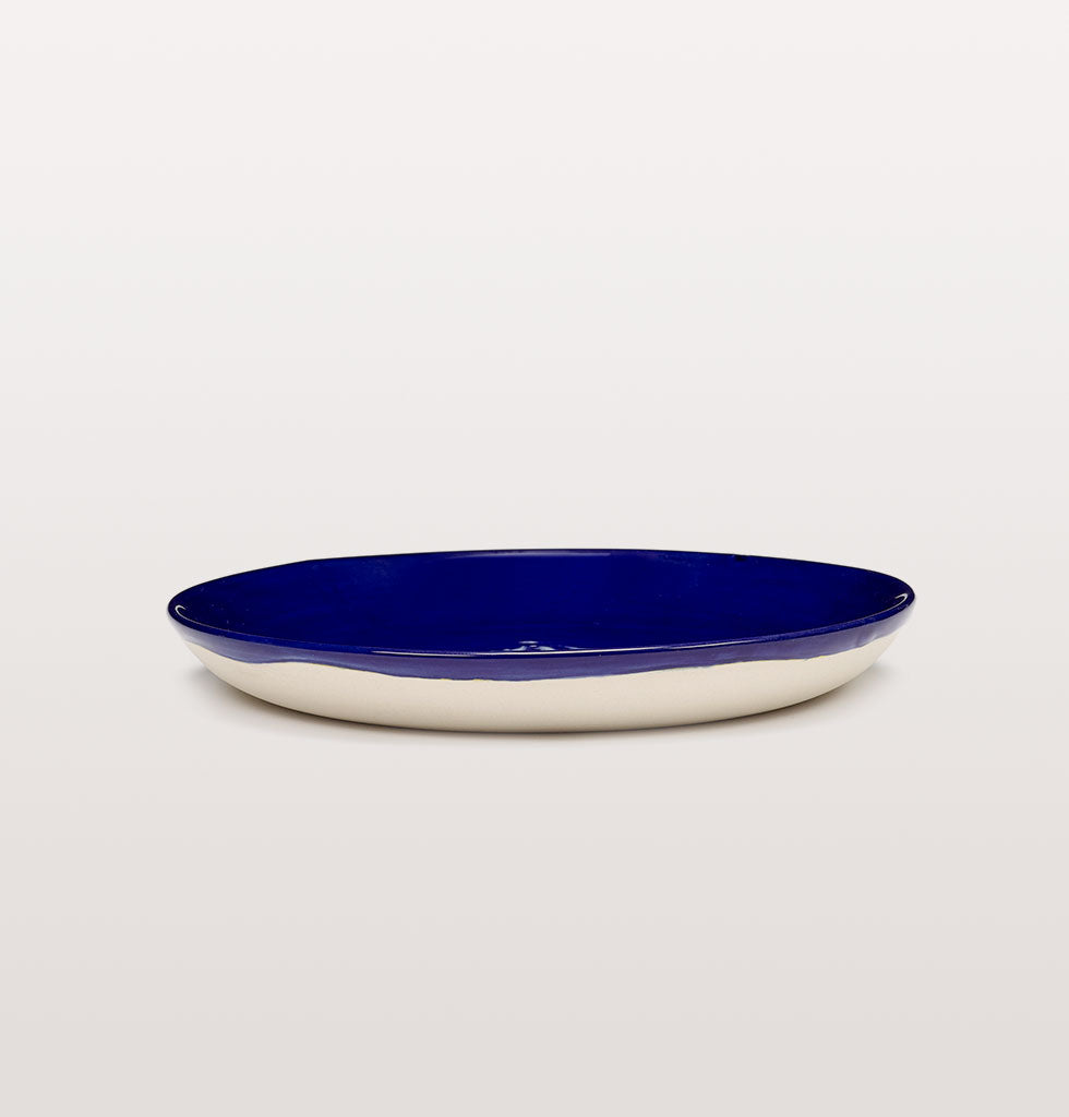 Ottolenghi x Serax. Lapis Lazuli and Artichoke White extra small plate side view. £16 wagreen.co.uk