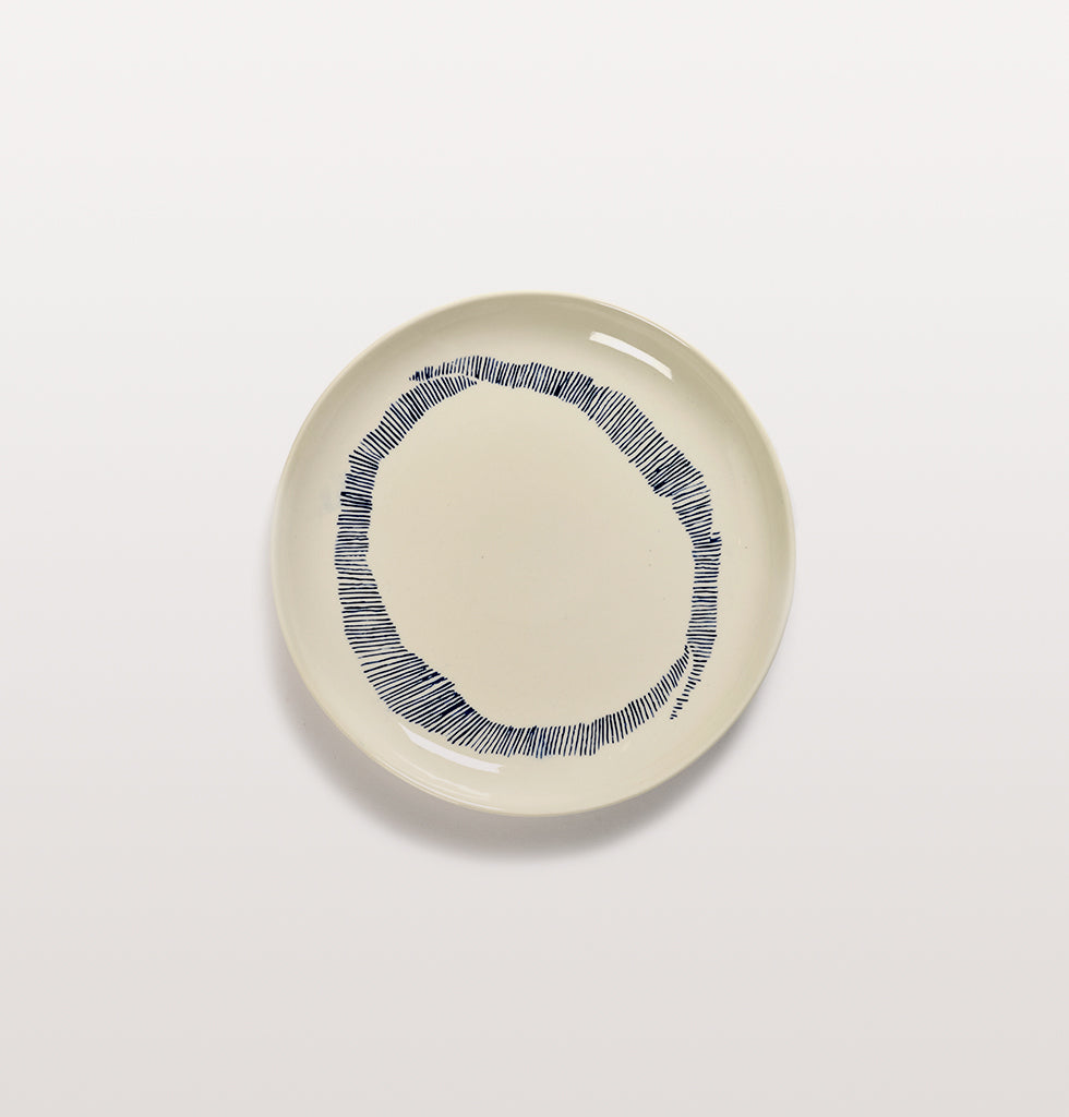 Ottolenghi x Serax. White & Swirl Stripes Blue small plate. £20 wagreen.co.uk